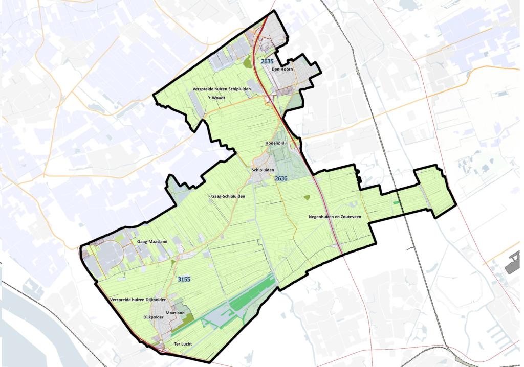 Gebied postcoderoosregeling Midden-Delfland